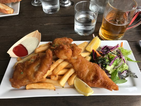 Pohara, Nya Zeeland: Fish and chips
