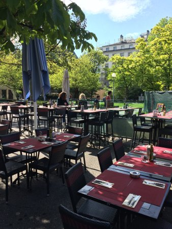 Photo de la potini re jardin anglais gen ve for Restaurant jardin anglais