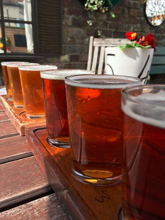 Windsor and Eton Brewery: Patio flight
