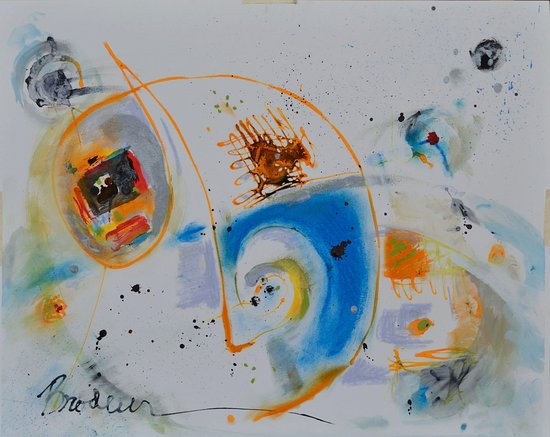 Salida, CO: Painting title: Universe.  Expressionistic and colorful,  mixed media on paper.           r