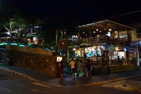 Il Giardino at night