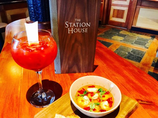 The Station House: The perfect combination  Bloody Mary and Prawn Pil Pil