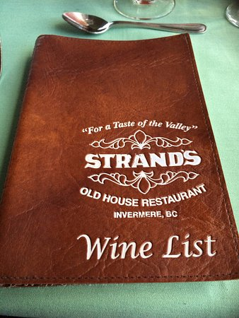 Invermere, Canada: The wine list is quite extensive!  Something for all tastes.  And the servers can recommend too!