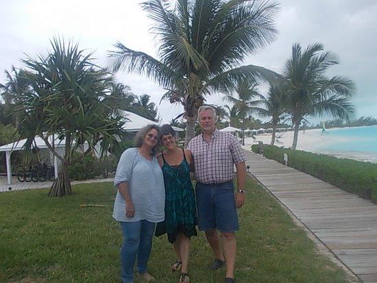 Cape Santa Maria: on the boardwalk at Santa Maria Beach, long island bahamas