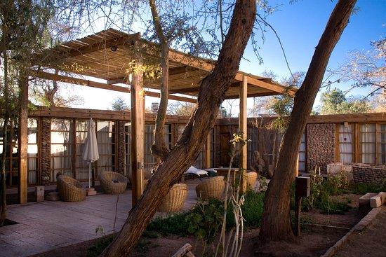 Lodge Andino Terrantai: The morning sun blessing our garden and patio