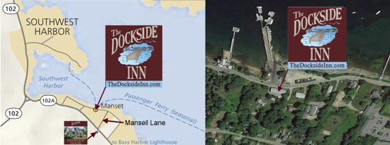 We're located at the Dockside in Southwest Harbor