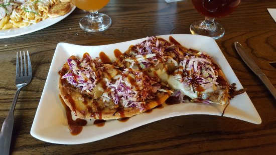 Newaygo, MI: Vodka penne and pork stacker