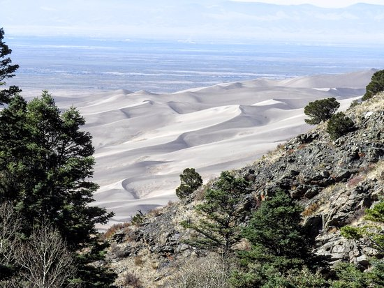 Great Sand Dunes National Park & Preserve, CO: View of Great Sand Dune from Mosca Pass Trail