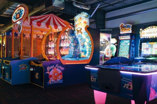 Wausau, WI: Our arcade is spacious and adults can enjoy a drink while playing games!