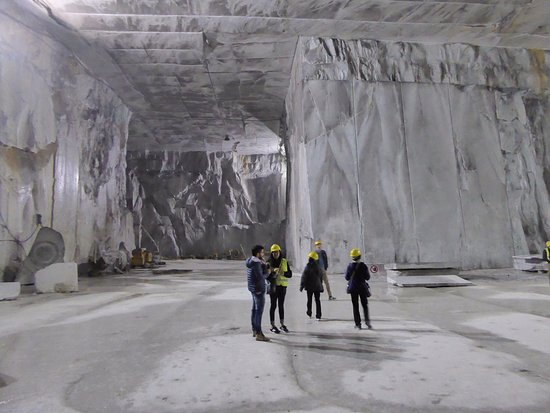Marble quarry inside a mountain  - Picture of CTTours
