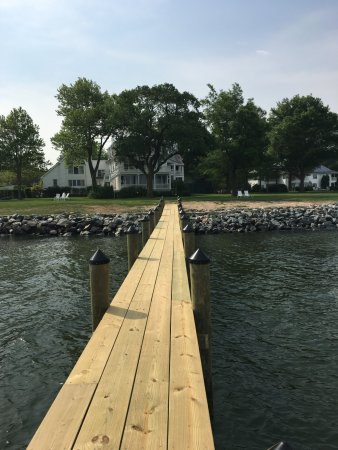 McDaniel, MD: View from dock looking back at inns