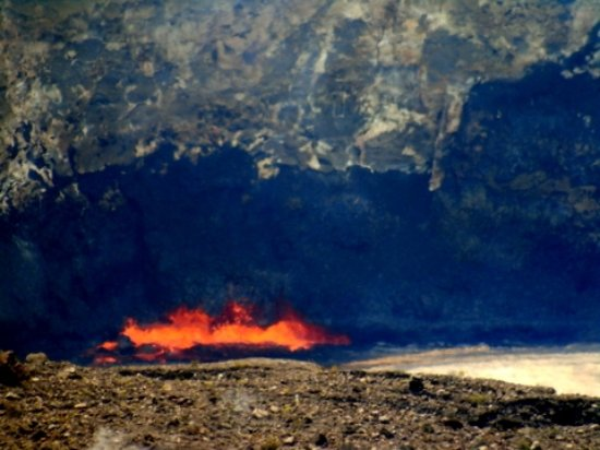 Keaau, HI: lava from about a mile away with a long lens..