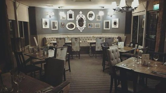 Brackley, UK: The top section of our restaurant at the end of the night...