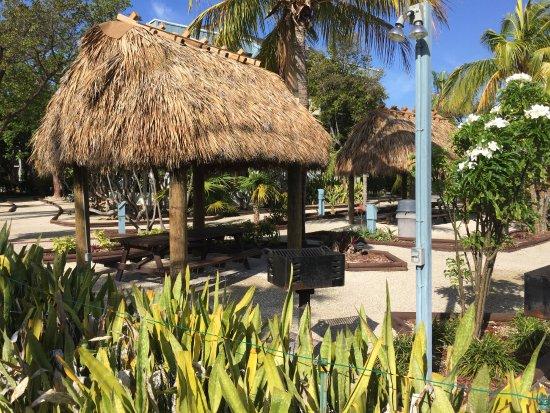 Banana Bay Resort and Marina Marathon: Tiki area with Charcoal Grill