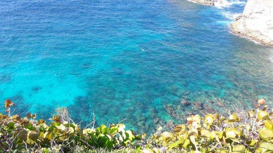 Anse-Bertrand, Guadeloupe: Très jolie couleur de lamer à cet endroit