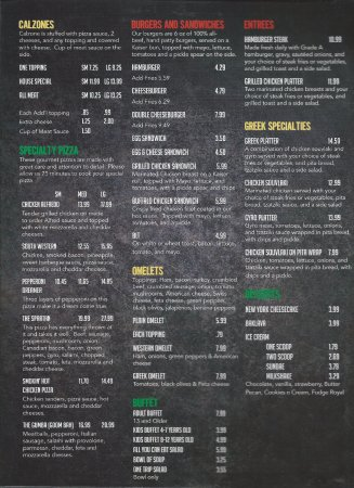 Kenly, Kuzey Carolina: menu page 2