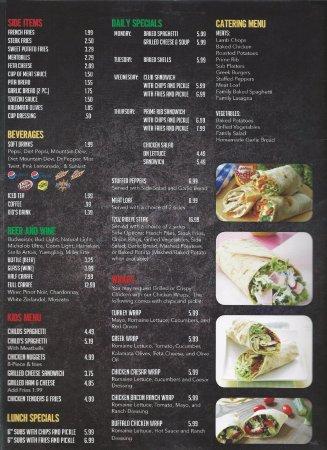 Kenly, Carolina del Norte: menu page 3
