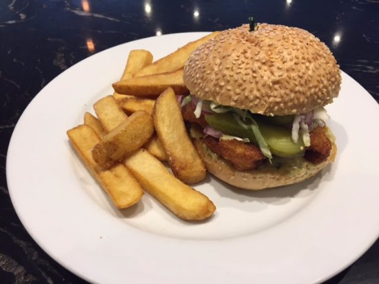 Whangaparaoa, Νέα Ζηλανδία: Fish burger