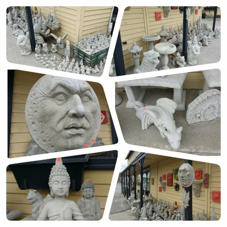 Hallowell, ME: We have a huge inventory of cement lawn ornaments to decorate your gardens and decks!
