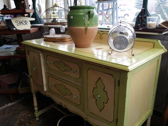 Lot of furniture at reasonable prices at the Hallowell Antique Mall!