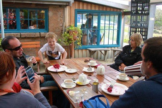 Kates Berry Farm: Outside table