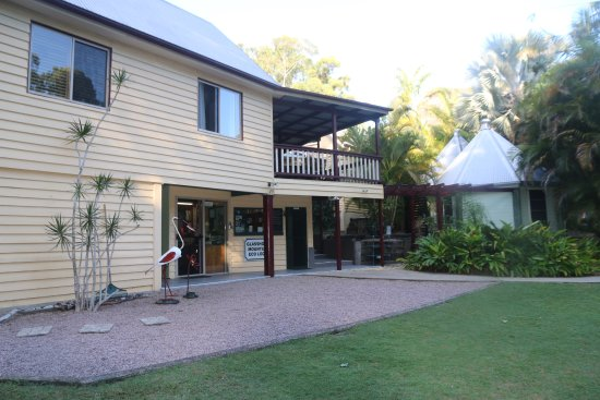 Glass House Mountains, ออสเตรเลีย: Reception with rooms above