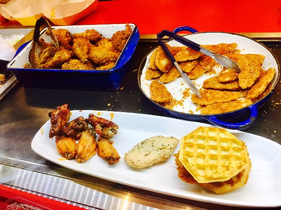 Chicken Waffle Sandwich Review Of Cletus Chicken Shack Orlando
