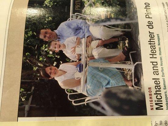 Samuel Durfee House: Rhode Island monthly article 2005