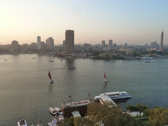 Four Seasons Hotel Cairo at Nile Plaza: Nile River view from my room.