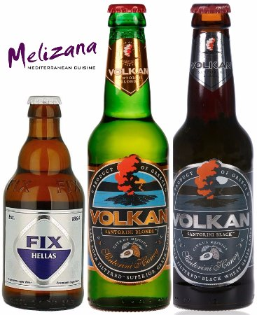 New Greek beers now are available only at Melizana's!