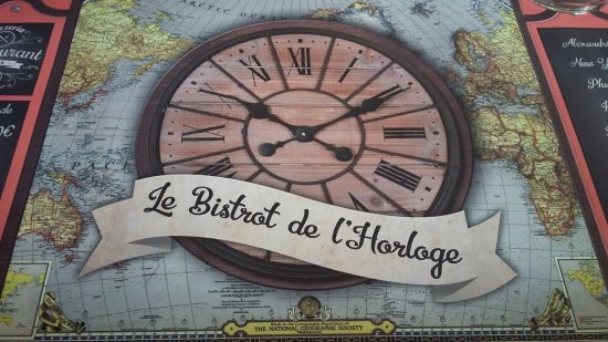 d co table picture of bistrot de l 39 horloge sete. Black Bedroom Furniture Sets. Home Design Ideas