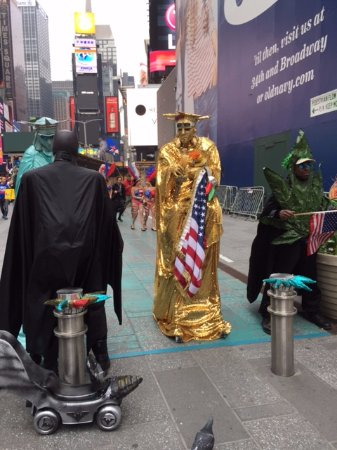 Millennium Broadway New York Times Square Just Outside The Hotel Door Batman Talking With
