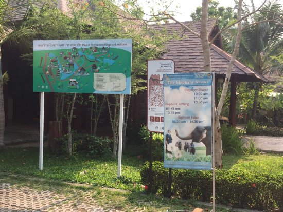 Thai Elephant Conservation Center: This is the map of the park.