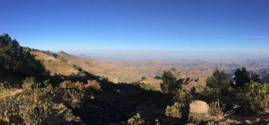 Amhara Region, Etiopia: View from the lodge