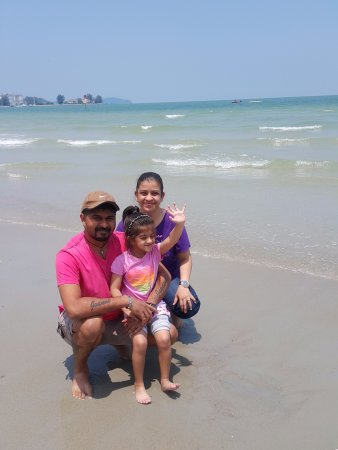 The Grand Beach Resort: My son John Paul with wife Joeann & baby angel Justina out on the beach