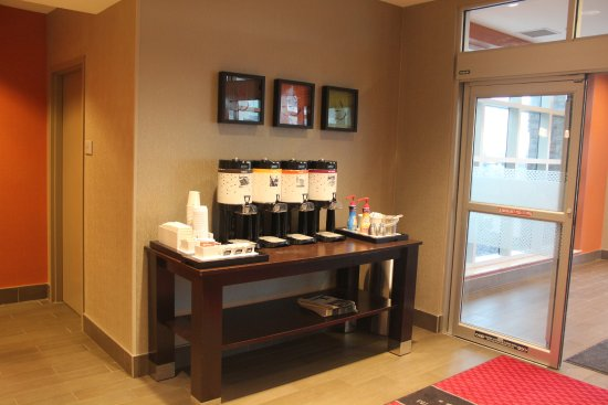 24 coffee service by the front desk picture of hampton inn by rh tripadvisor in