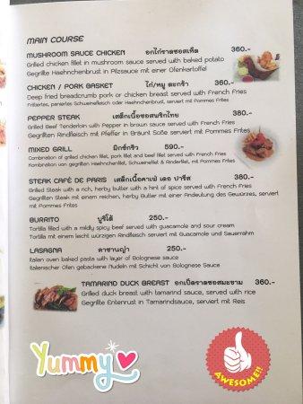 Lipa Noi, Thailandia: Food & Drink Menu Page 7