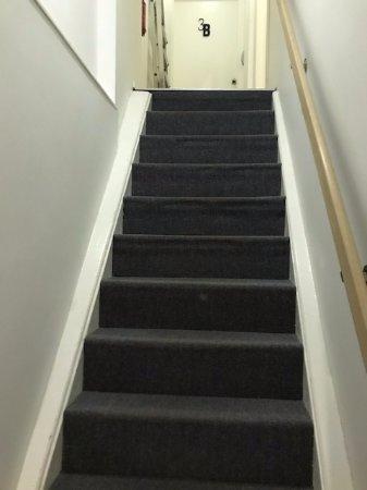AMS Suites: Steep stairs