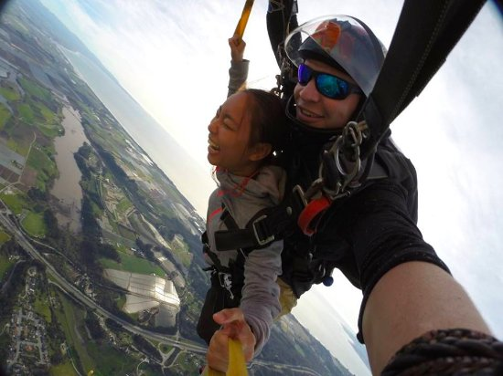 Skydive Surfcity -Santa Cruz: I couldn't stop giggling all throughout :))