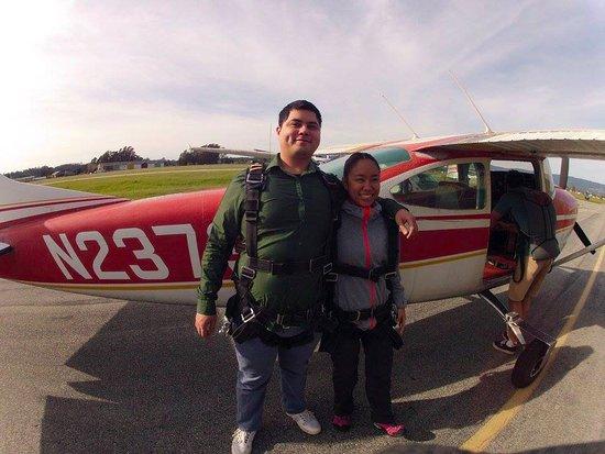 Skydive Surfcity -Santa Cruz: Before take-off