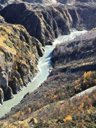 Unforgettable Skippers Canyon Tour: River runs through the canyon...rafters, jetboaters, etc.