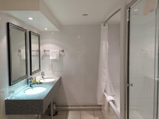 Bathroom Sinks York bathroom with double sink, bath and separate shower - picture of