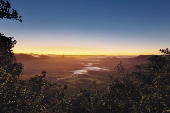 Mackay, Australia: The Pioneer Valley at sunrise as seen from the highlands of Eungella National Park.