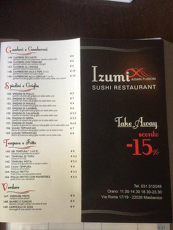 Maslianico, Italia: Izumi sushi