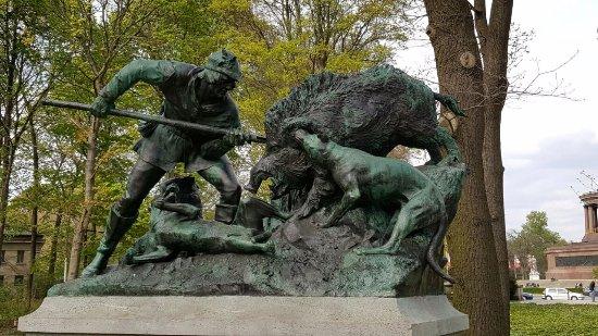 """Figurengruppe """"Eberjagd der Renaissancezeit"""""""