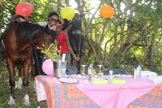 St Lucia, South Africa: picnic after the game ride