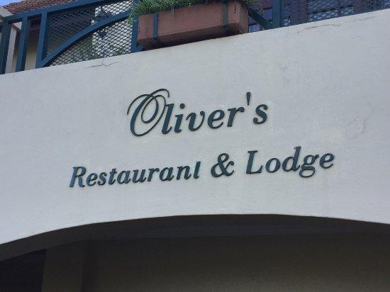 Oliver's Restaurant & Lodge: Oliver's sign