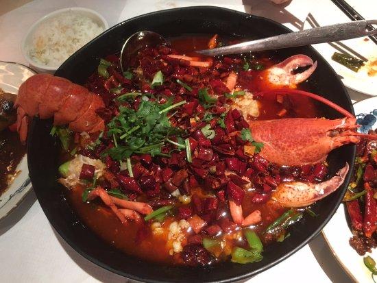 Ermei Sichuan Restaurant : spicy lobster