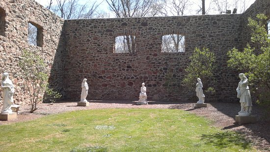 Hillsborough, NJ: A foundation on the property that is decorated with incredible statues!