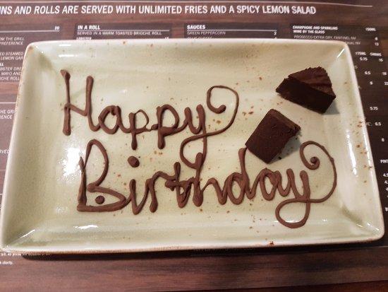 Steak & Lobster Manchester: Nice Birthday surprise